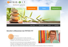 Screenshot der Seite Physio-Fit