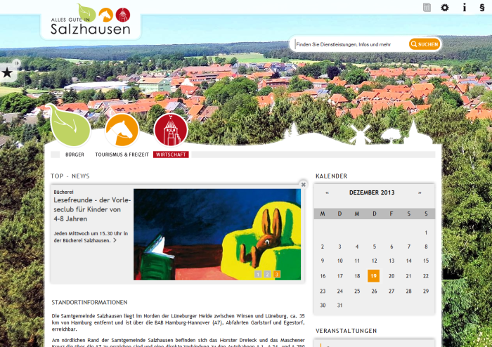 Screenshot Salzhausen © NOLIS GmbH
